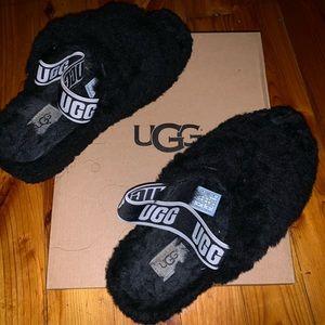 Furry Ugg Slides